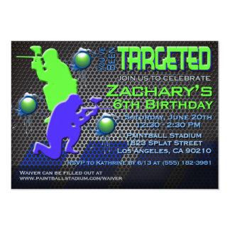 Boy's Paintball Birthday Invitation