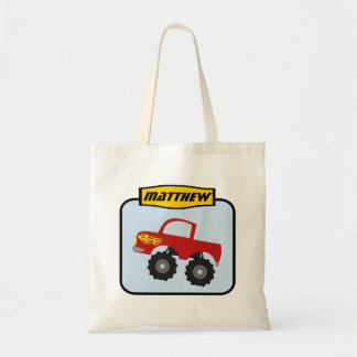 Boys Personalized Monster Truck Tote Bag