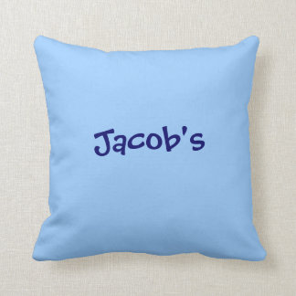 Boy's Personalized name pillow periwinkle  blue
