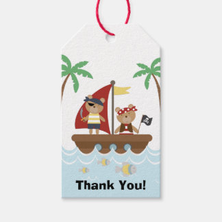 Boys Pirate Birthday Party Gift Tags