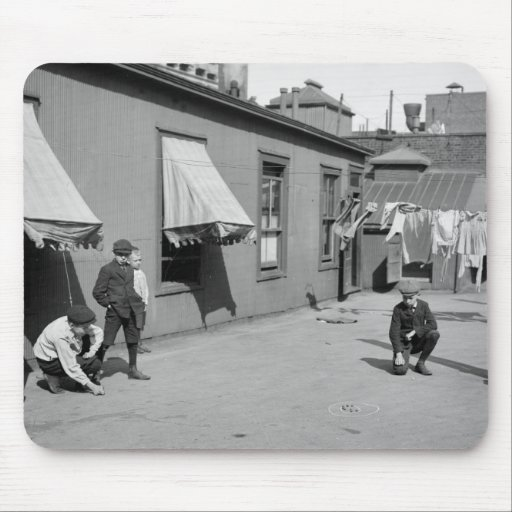 Boys Playing Marbles, early 1900s Mousepad