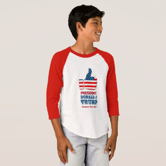 Boys Raglan Shirt Thumbs Up Pesident Trump