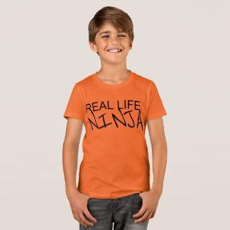 Boys Real Life Ninja Orange Shirt