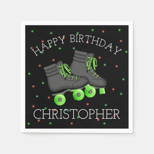 Boy's Roller Skate Birthday Disposable Napkin