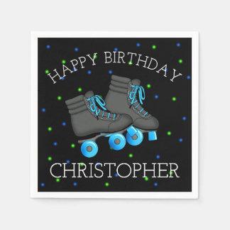 Boy's Roller Skate Birthday Paper Napkin