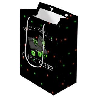 Boy's Roller Skate Birthday Party Personalized Medium Gift Bag