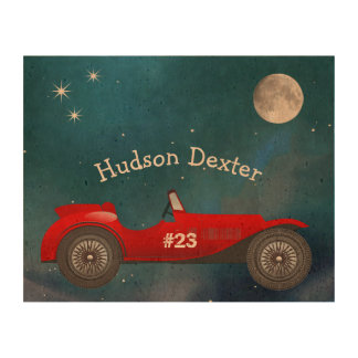 Boys Room Classic Car Gifts Sweet red Retro Car Queork Photo Prints