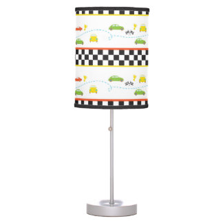 Boys room fun car pattern table lamp