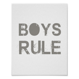 Boy's rule, Safari style, Boy's room poster