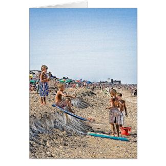 Boys Sand Surfing DB Elevators Card