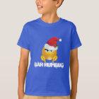 Boy's Santa Emoji Shirt Bah Humbug
