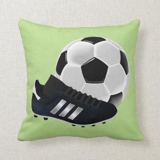 Boys soccer lovers customisable throw pillow