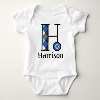 Boy's Star of David Hanukkah Bodysuit monogram H
