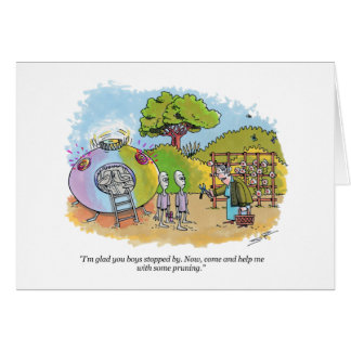 Boys Stopped By cartoon greeting card