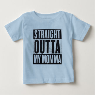 Boy's Straight Outta My Momma Funny Kid Tee
