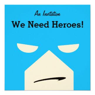 Boys Superhero party invite
