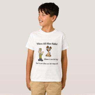 Boy's t-shirt blame the dog