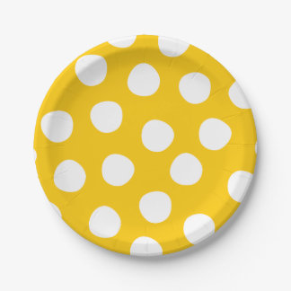 Boys Toys Birthday Party Polka Dots Paper Plates 7 Inch Paper Plate