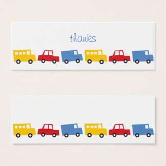 Boys Toys Transport Car Bus Birthday DIY Gift Tags