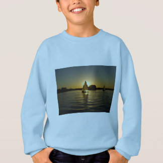 Boy's trendy light blue sail boat sweat shirt