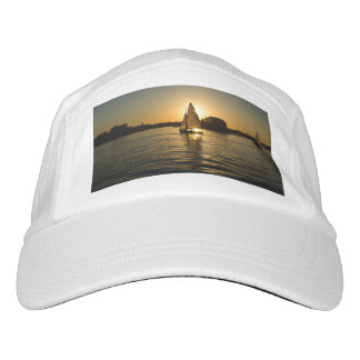 Boy's trendy white  sail boat performance  hat