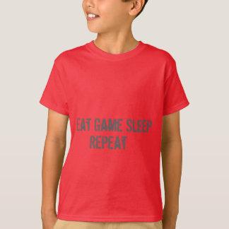 Boys tshirt Eat Game Sleep Repeat