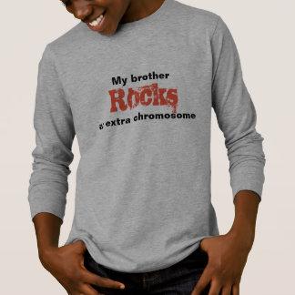 "Boys Tshirt ""My brother rocks an extra chromosome"""