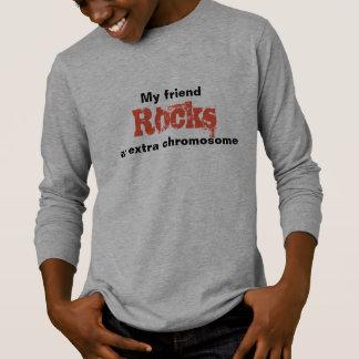 """Boys Tshirt """"My friend rocks an extra chromosome"""""""