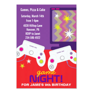 boys video game birthday party invites - Video Game Party Invitations
