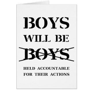 Boys will be Boys Blank Card (no curse)