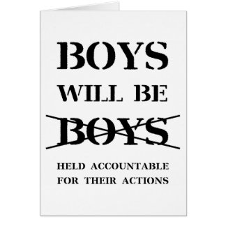 Boys will Be Boys (curse free) Card