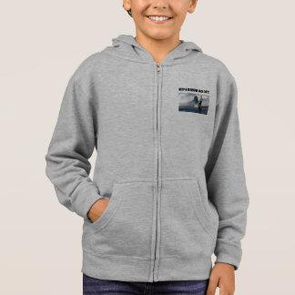 """Boys zip hoodie, """"Need a bluewave vaca day!"""" Hoodie"""