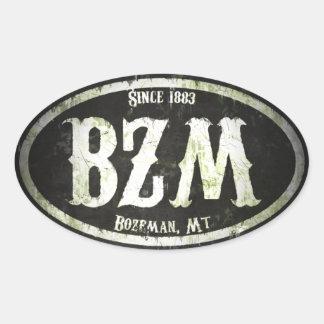 Bozeman Freak Grunge Oval Sticker