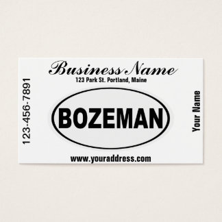 Bozeman Montana Business Card