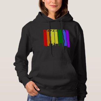 Bozeman Montana Gay Pride Rainbow Skyline Hoodie