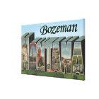 Bozeman, Montana - Large Letter Scenes Canvas Print