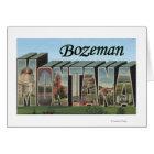 Bozeman, Montana - Large Letter Scenes Card
