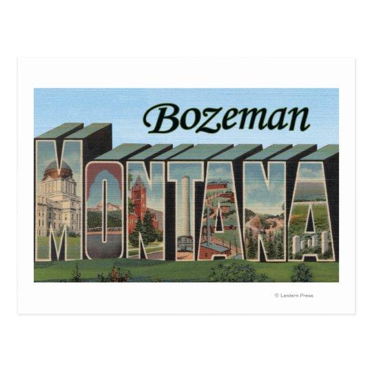 Bozeman, Montana - Large Letter Scenes Postcard