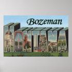 Bozeman, Montana - Large Letter Scenes Poster