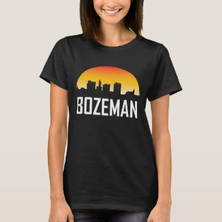 Bozeman Montana Sunset Skyline T-Shirt