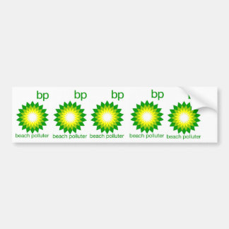 BP Beach Polluter Sticker Bumper Sticker