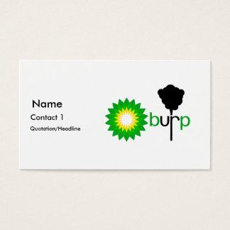 BP Burps Business Card