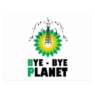 BP Bye Bye Planet Postcard
