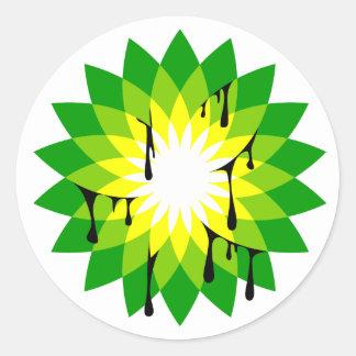 BP Oil Leak Round Sticker