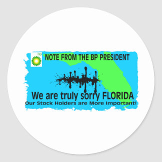BP TO FLORIDA CLASSIC ROUND STICKER