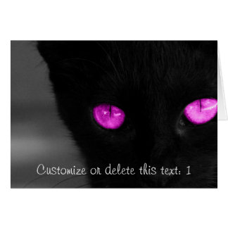 BPUR Black Cat Purple Eyes Card