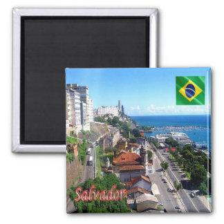 BR - Brazil - Salvador - Bahia Square Magnet