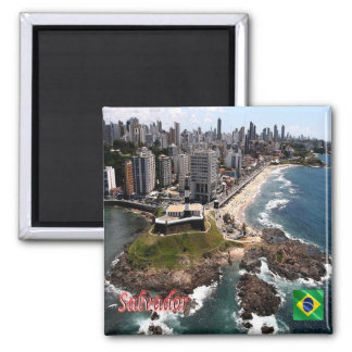 BR - Brazil - Salvador - Panorama Square Magnet