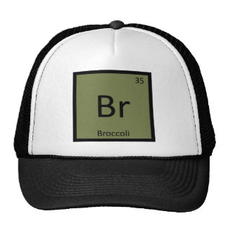 Br - Broccoli Vegetable Chemistry Periodic Table Trucker Hat