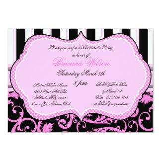 Bra and Panty Size Bachelorette Party Invitation